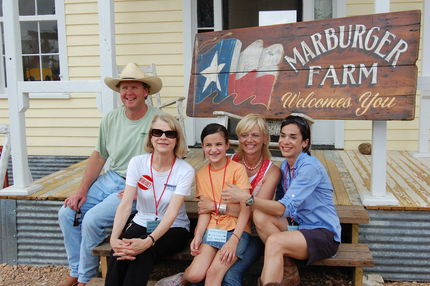 Margaret Marsh and family. The best hosts in Texas!