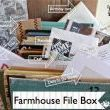My Farmhouse File Box filled with notes, to do lists, cards and everything else...but the kitchen sink!