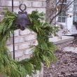 The wreath greets my guests at the front walkway.  (I need some snow, dont I?)
