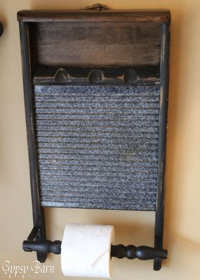 Repurposed Washboard To Toilet Paper Holder Junkmarket Style