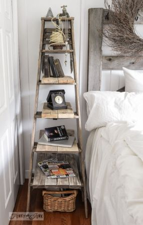 This ladder side table not only solved a multitude of space issues, you can whip it up in a short couple of hours.