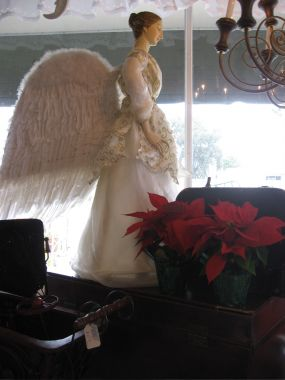 First came my Angel and then I found her wings at a yard sale for $10. Devine intervention?
