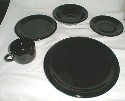 This is the set of dishes laid out