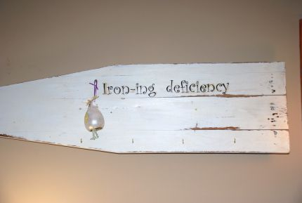 Iron-ing Deficiency antique ironing board wall hanger