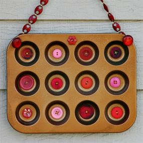 button wall-art - my rusty button tin is featured on etsy...